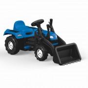Excavator cu pedale, plastic rezistent, 52 x 110 x 45 cm, maxim 35 kg, Albastru