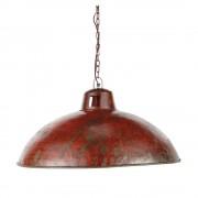 Maisons du Monde Lámpara de techo industrial de metal rojo con efecto óxido