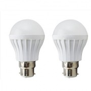 REBUY Pack of 2 Alpha 5 Watt Warm White B22 Cap Type LED Bulb