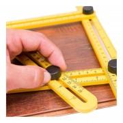 Cuatro Plegable De Plástico Escala Métrica REGLA Regla De ángulo De Medición Multifuncional