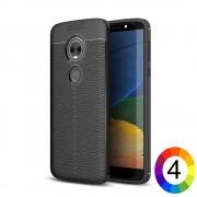 Motorola Moto E5 / G6 Play Удароустойчив Litchi Skin Калъф и Протектор