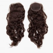 Rapunzel® Hair extensions Lace Closure Soft Wave 2.2 Coffee Brown 40 cm