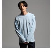 【WEB限定】FILA for tk.TAKEO KIKUCHI ロングスリーブTシャツ【ティーケー タケオキクチ/tk.TAKEO KIKUCHI メンズ Tシャツ・カットソー サックス(090) ルミネ LUMINE】