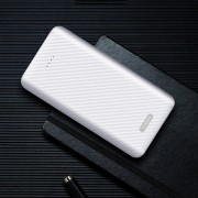 YK 021 10000mAh Power Bank Dual USB Output for iPhone Samsung Huawei, etc - White