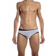 Petit-Q Double Sheer Bikini Underwear White/Black Pq13