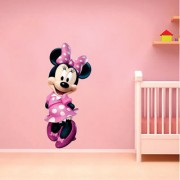EJA Art Minnie Mouse Wall Sticker (Material - PVC) (Pec - 1) With Free Set of 12 pec butterflies sticker