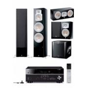 Sistem Home Cinema Premium Extra Yamaha cu receiver RX-V683+boxe podea NS-777+centru NS-444+surround NS-333+SW SW100