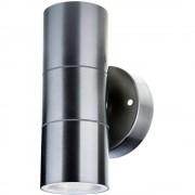 Vanjsko zidno svjetlo LED GU10 V-TAC VT-7622 es Plemeniti čelik (brušeni)
