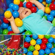 150pc Ball Pit Colorful Soft Ocean Balls Toy Fun Swim Pit Ball Pool Play Toy For Kids and Baby