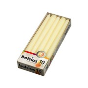 Bolsius gotische kaarsen 10 stuks ivoor 24,5 cm