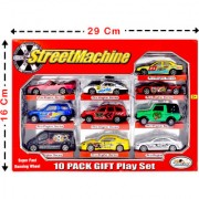 Jain Gift Gallery Jgg Metal Play Fast Running Wheel Series of Car Toys (Pack of 10)
