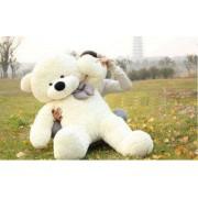 Cream 3.5 Feet Bow Teddy Bear
