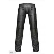 Noir Handmade Line Segment Zipper Pants Black H021