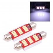 2 Pcs 3W Luz Blanca 12 180LM 41mm LED SMD 4014 CANBUS Placa Luces De Lectura Auto Bombilla