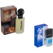 Set of 2 Chocolate-Blue Lady Perfume