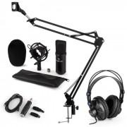Auna CM001B set de micrófono V3 micrófono condensador adaptador USB brazo de micrófono negro