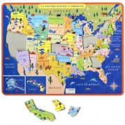 eeBoo USA Map Tray Puzzle
