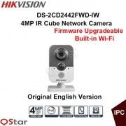 Hikvision Original English 4MP Wireless IP Camera DS-2CD2442FWD-IW Built-in Microphone WDR CCTV Camera Replace DS-2CD2432F-IW