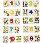 Puzzle lemn cu autocorectie invata Numerele