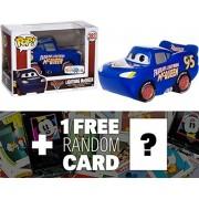 "Lightning McQueen (Toys ""R"" Us Exclusive): Funko POP! Disney x Cars 3 Vinyl Figure + 1 FREE Classic Disney Trading Card Bundle (14234)"
