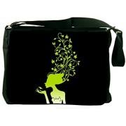 Snoogg Womens Brain 2488 Laptop Messenger Bag