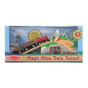 Melissa & Doug Túnel de tren minero Melissa & Doug de madera con efectos de sonido