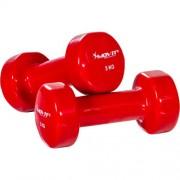 MOVIT súlyzók vinyl bevonattal 2 x 3 kg, piros