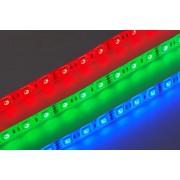 LED SZALAG 12V folyóméteres beltéri RGB színes (10,8W)