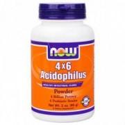 Пробиотик Acidophilus 4 X 6 - 85 грама, NOW FOODS, NF2925