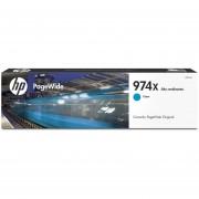 Cartucho HP de alta capacidad PageWide 974X-Cian