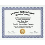 Comoros Comoran National Pride Certification: Custom Gag Nationality Family History Genealogy Certificate (Funny Customized Joke Gift - Novelty Item)