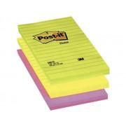 NOTES AUTOADEZIV POST-IT LINIAT 152X102 mm, culori neon roz Notes autoadeziv 102x152 mm
