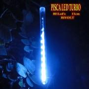 Pisca Led Turbo Snow Fall Bi-volt 80 Leds 11cm 8 tubos 2,40m piscal natal