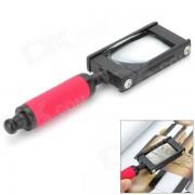 ZW TH-8008 Lupa de mano 5X-Negro + Rojo