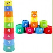 Alcoa Prime 9 Stacking Rainbow Cups Stack Up Cups Toddlers Kids Educational Toys -Number