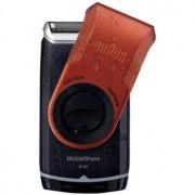Braun MobileShave M-60r машинка за бръснене за пътуване червена