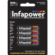 Infapower Aaa 1000MAH Ni-mh Rechargeable Batteries (4-Pack) B002