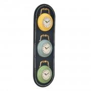 Стенен часовник Светофар - с аналогови стрелки- 25 x 4,5 x 80 см - цветен