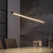 LED Esszimmer Hängleuchte in Nickelfarben dimmbar