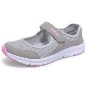 labato Zapatos de Caminar Ligeros para Mujer, de la Marca, con Malla Transpirable, de Mary Jane, Casuales y Suaves, Gris-01, 6M(US)