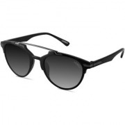 Laurels Hawk Eye UV Protected Trendy Sunglasses - Black Lens - Ls-HKE-020202