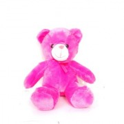 stuffed toy cute and soft brown teddy 25 cm pink