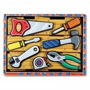Melissa Doug puzzle lemn in relief uneltele