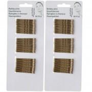 Merkloos Gouden schuifspeldjes/haarspelden 5 cm 120 stuks
