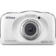 Nikon W-100 Weià Digitale camera 13.2 Mpix Zoom optisch: 3 x Wit Full-HD video-opname, Onderwatercamera, Schokbestendig, WiFi