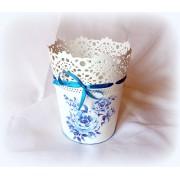 Ghiveci decorativ blue roses - 122036