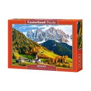 Puzzle Biserica St. Magdalena - Dolomites, 2000 piese