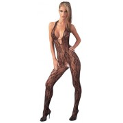 Mandy Mystery Halterneck Catsuit with Pearls - Small-Medium