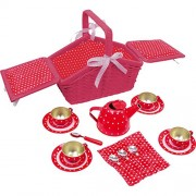 Legler Red Picnic Basket (Sarah) Set