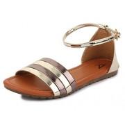 Trase Spade Golden Girls / Women Flat Sandals-3 IND/UK